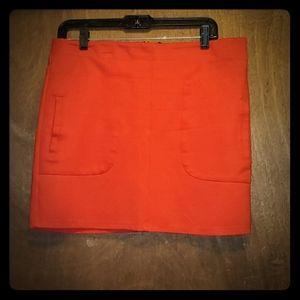FOREVER 21 Orange Mini Skirt